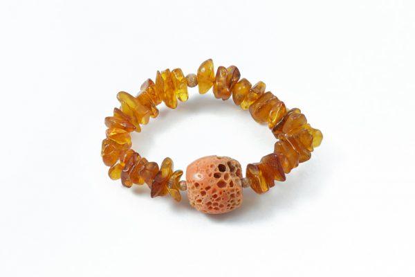 Bracciale ambra corallo naturale BR8018