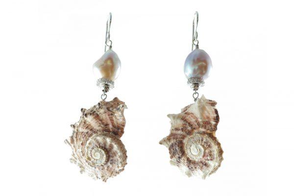 Orecchini Conchiglie Perle argento OR1919