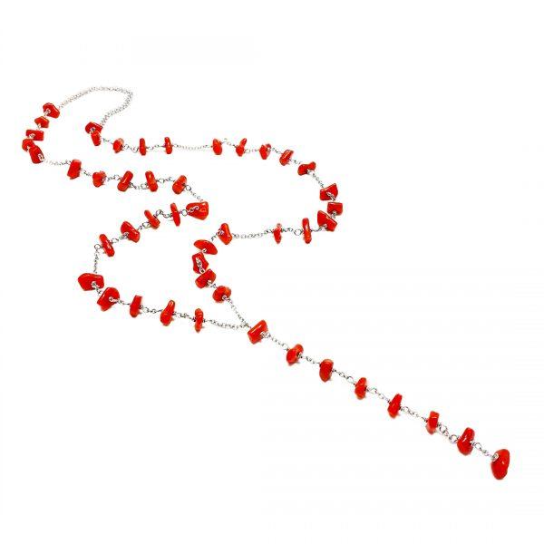 Collana uomo corallo rosso naturale del Mediterraneo I17019