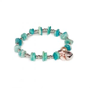 Bracciale amazzonite madreperla opale rosa argento BR3320